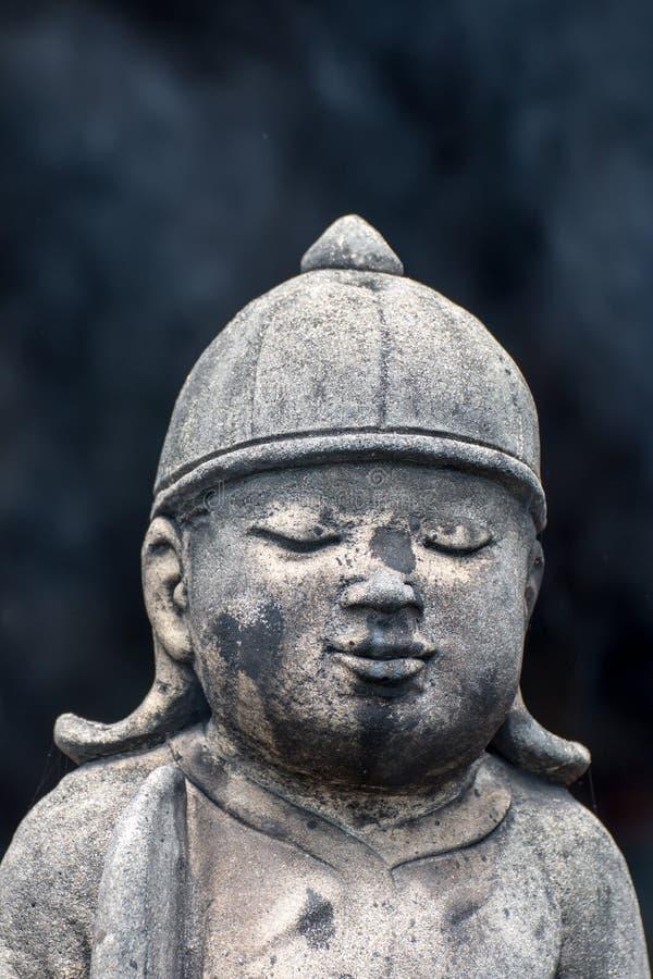 Statues concrètes de vintage en Wat Chai Mongkon - temple bouddhiste, images stock