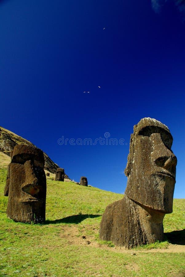 Statues d'île de Pâques photographie stock libre de droits
