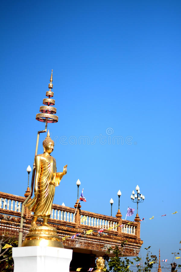 Statues d'or d'idole photos libres de droits
