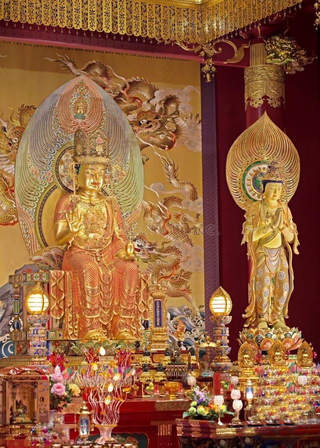 Statues d'or de Bouddha photographie stock