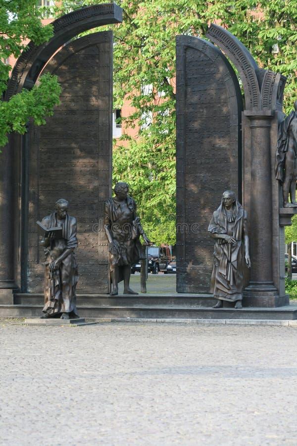 Statues de cuivre à Hanovre photographie stock
