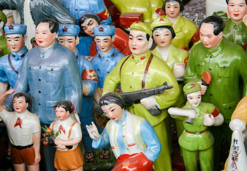 Statues de Mao dans Pékin, Chine image libre de droits