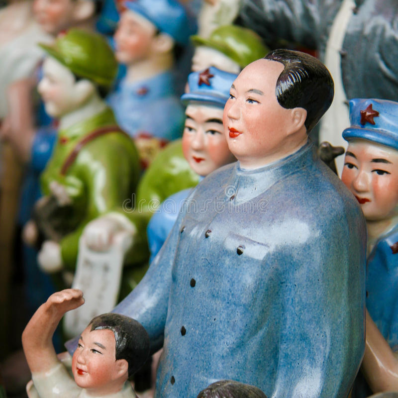 Statues de Mao dans Pékin, Chine photographie stock libre de droits