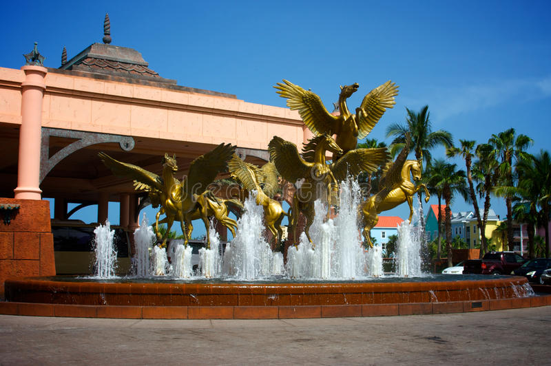statues de Pegasus de fontaine photo libre de droits