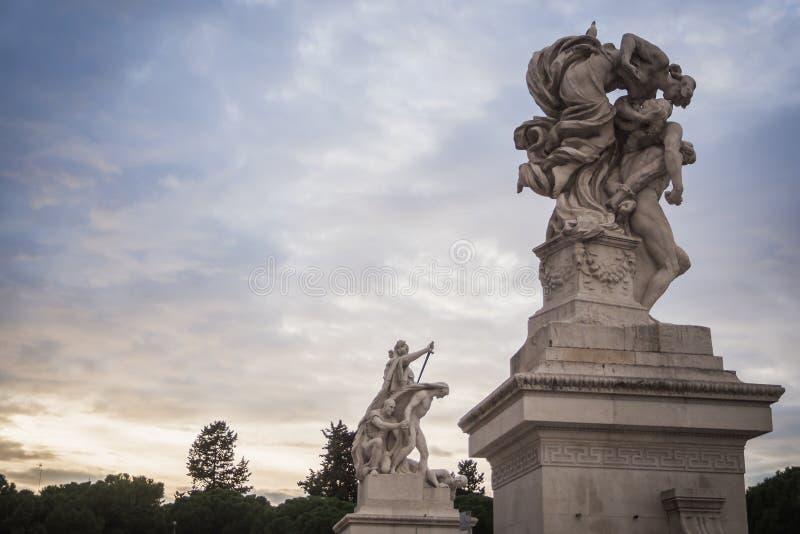 Statues du monument Vittorio Emanuele II à Rome photos stock