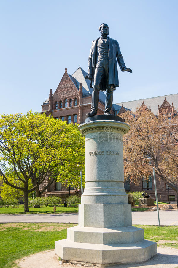 Statues du parc de la Reine : George Brown photographie stock
