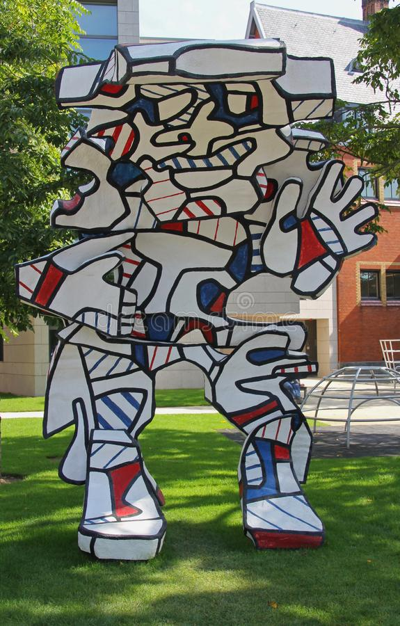 Statues Dubuffet in the garden of the Rijksmuseum stock photo