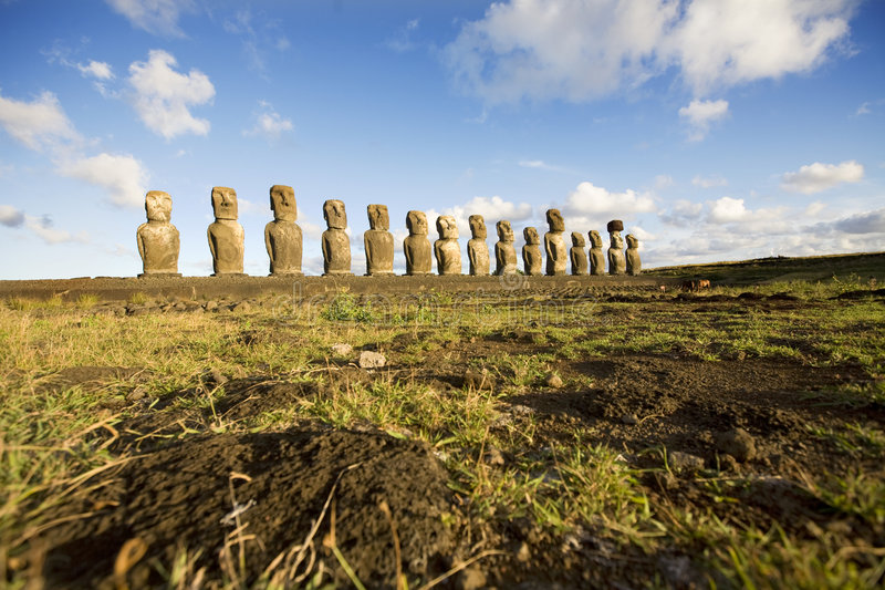 Statues easter island stock photography