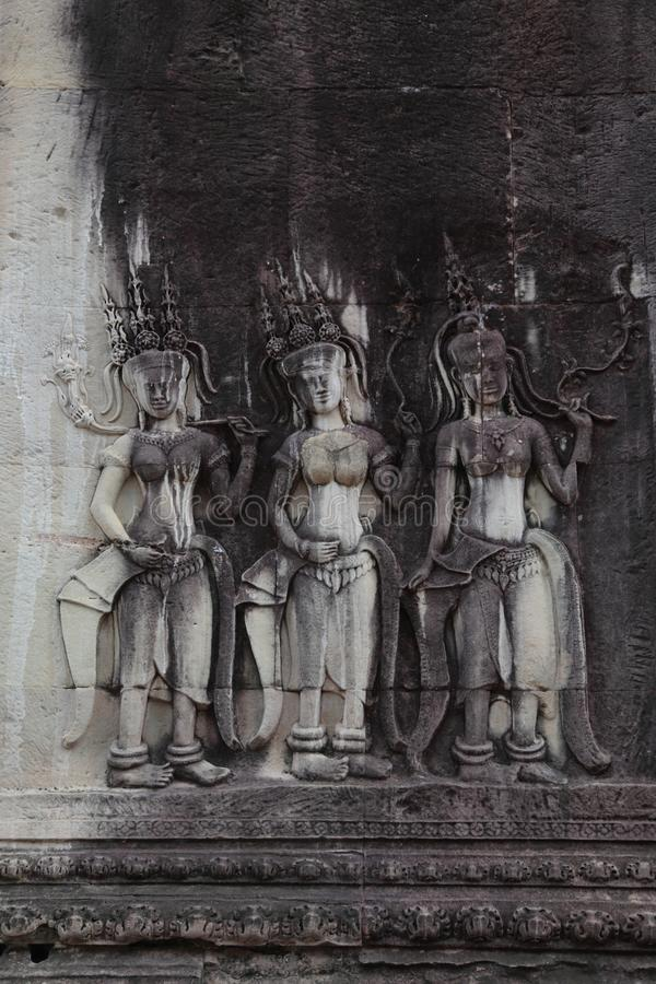 Statues en Angkor Wat Temple, Siem Reap, Cambodge photographie stock