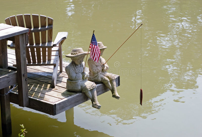 Statues on the Erie Canal stock image