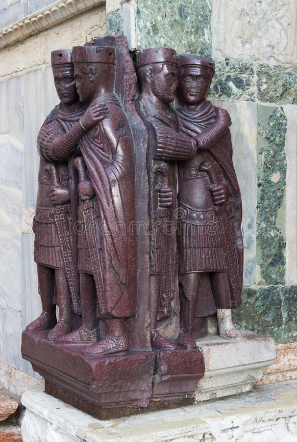 Download Statues Of Four Tetrarchs Outside The Basilica Of San Marco, Venice Stock Photo - Image: 83700492