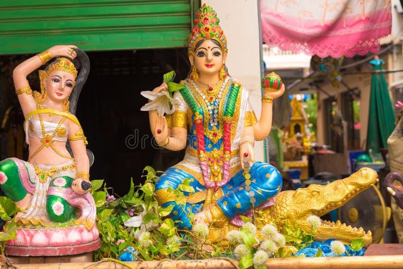 Statues of Hindu gods. Close-up. Statues of Hindu gods. Close-up stock photo