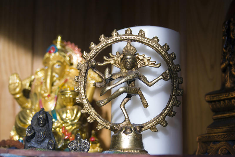 Statues of Hindu gods stock images