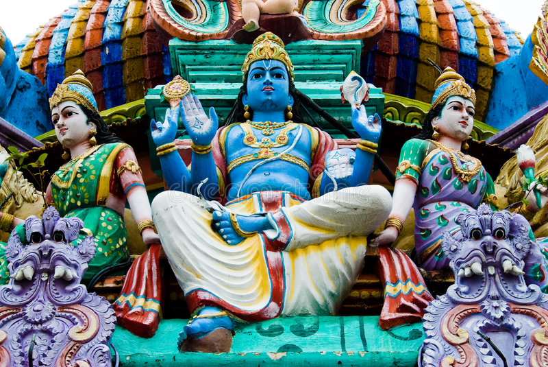 Statues on a hindu temple royalty free stock photos