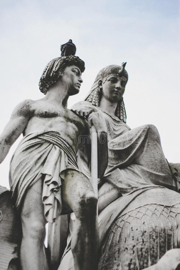 Statues in London stock photo