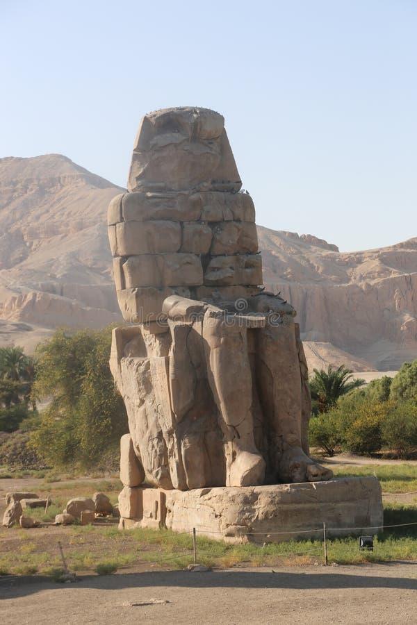 Statues of Memnon stock photos