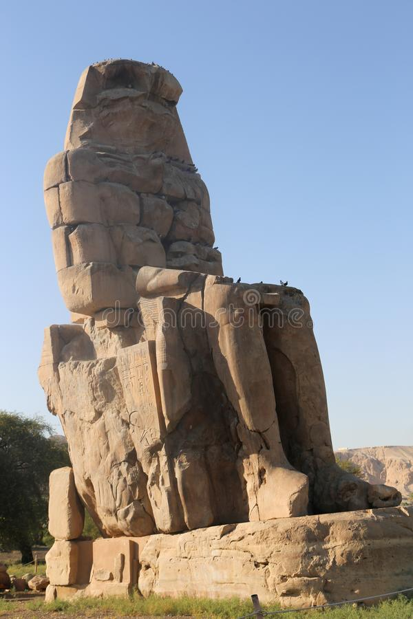 Statues of Memnon royalty free stock photos