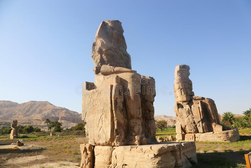 Statues of Memnon stock image