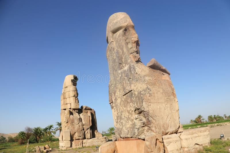 Statues of Memnon stock photography