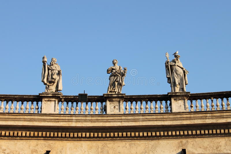 Statues in Saint Peter Basilica stock photos