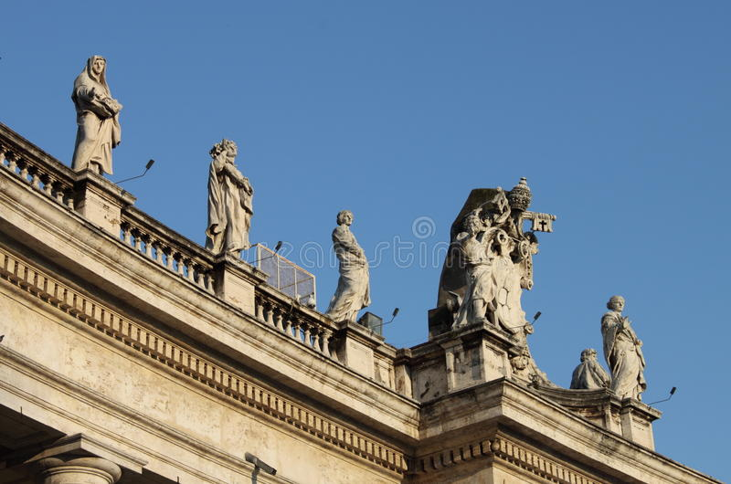Statues in Saint Peter Basilica royalty free stock image