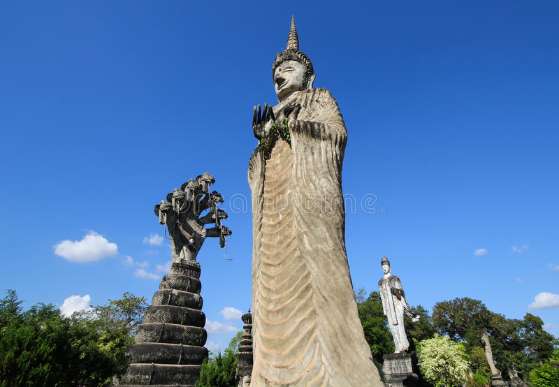 Statues in the Sculpture Park - Nong Khai, Thailand royalty free stock photos
