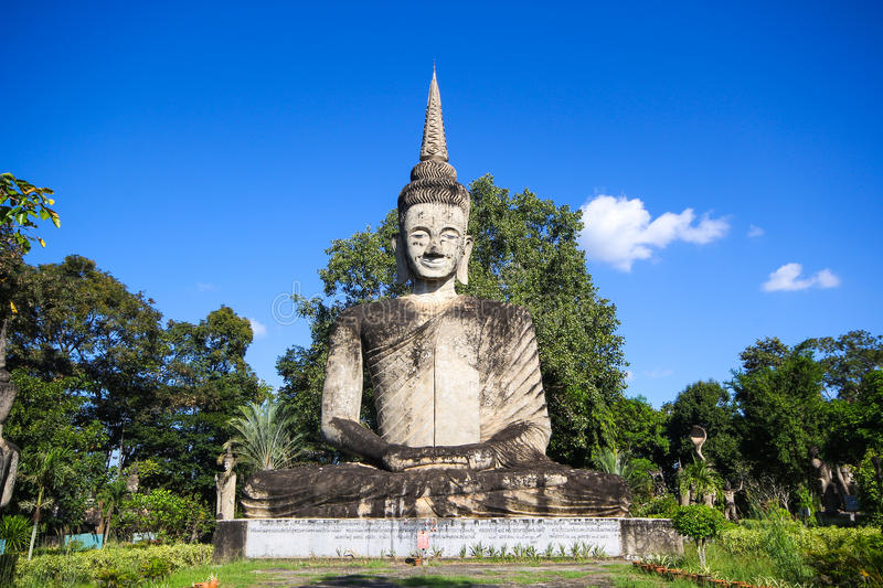 Statues in the Sculpture Park - Nong Khai, Thailand stock photography
