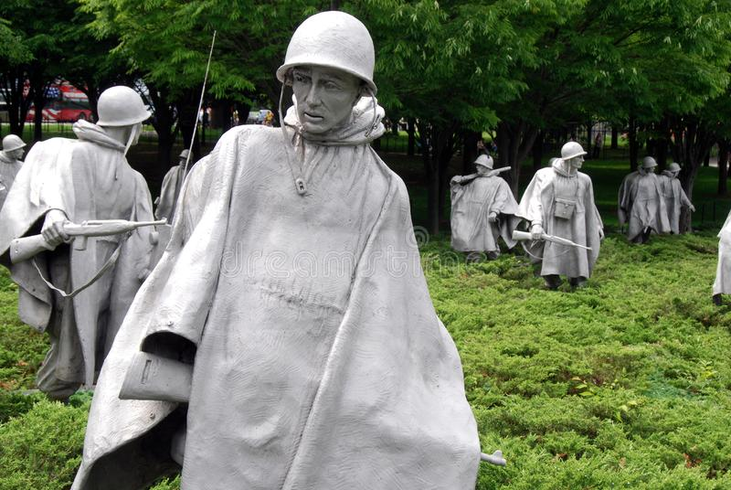 Korea War Memorial in Washington, DC stock photo