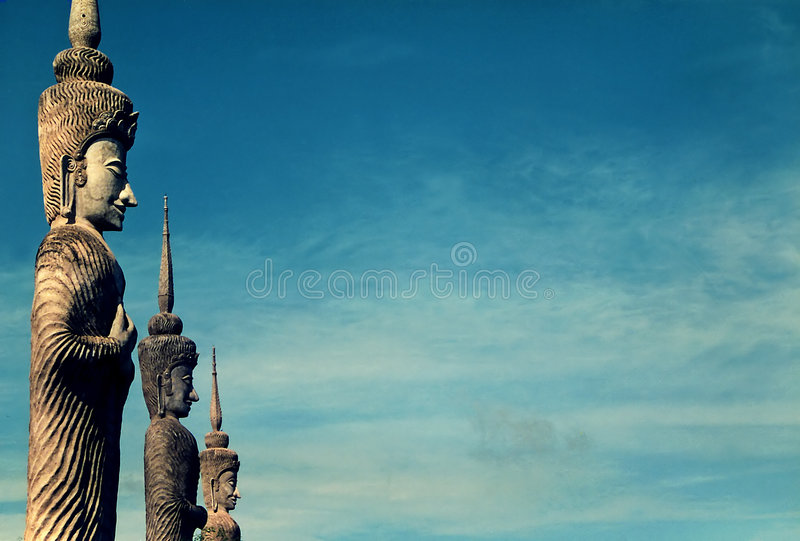 Statues in thailand stock photo