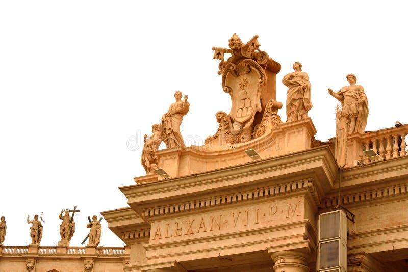 Statues Vatican de saints de place de St Peter photo libre de droits