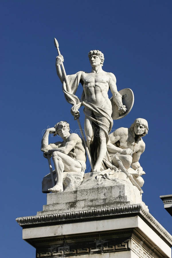 Download Statues On The Victor Emmanuel Monument, Rome Royalty Free Stock Photography - Image: 3754357