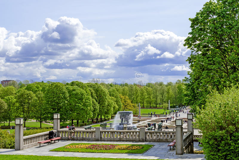 Statues in Vigeland park in Oslo folks stock images