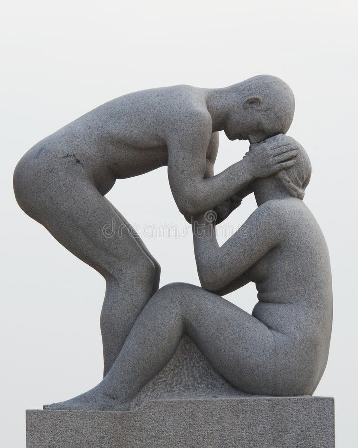 Statues in Vigeland park in Oslo, Norway royalty free stock image