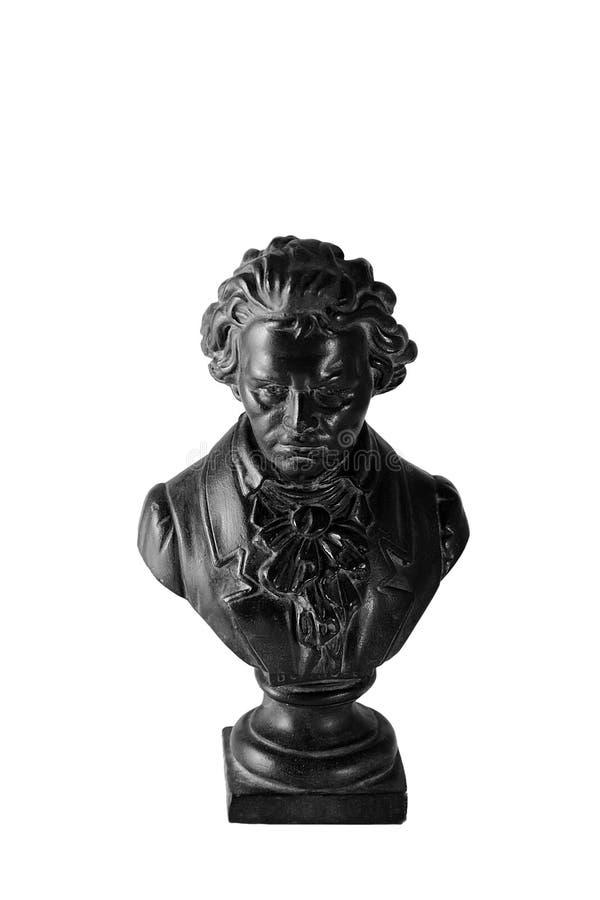 Statuetta del beethoven su bianco fotografia stock