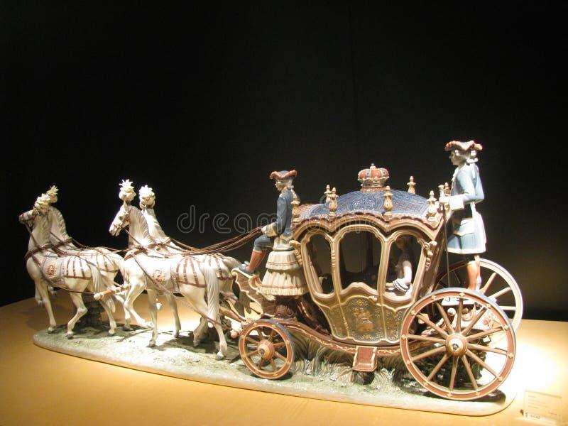 Statuetta equestre fotografia stock