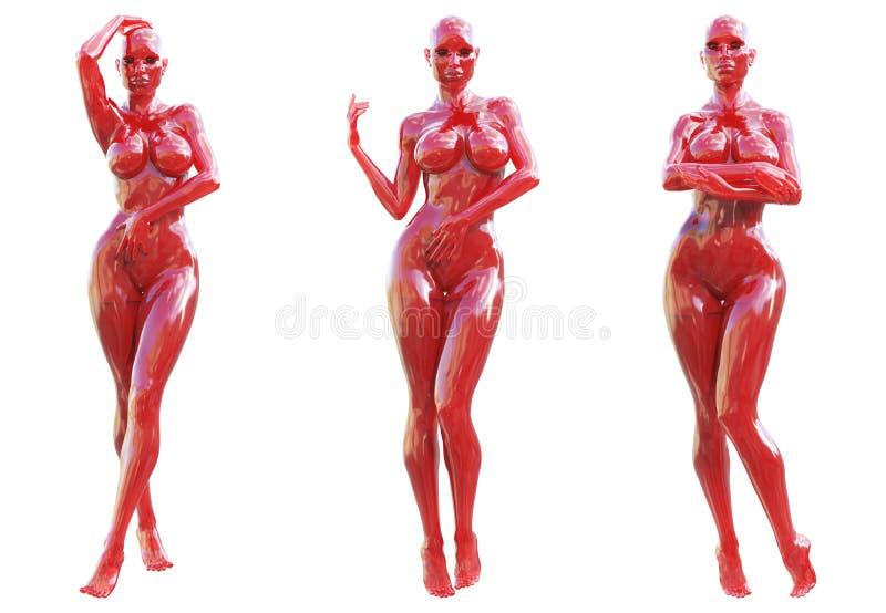 Statuette γυναίκα φιαγμένη από γυαλί gem ελεύθερη απεικόνιση δικαιώματος