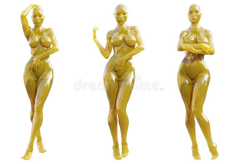 Statuette γυναίκα φιαγμένη από γυαλί gem απεικόνιση αποθεμάτων