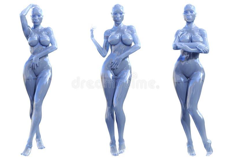 Statuette γυναίκα φιαγμένη από γυαλί gem διανυσματική απεικόνιση
