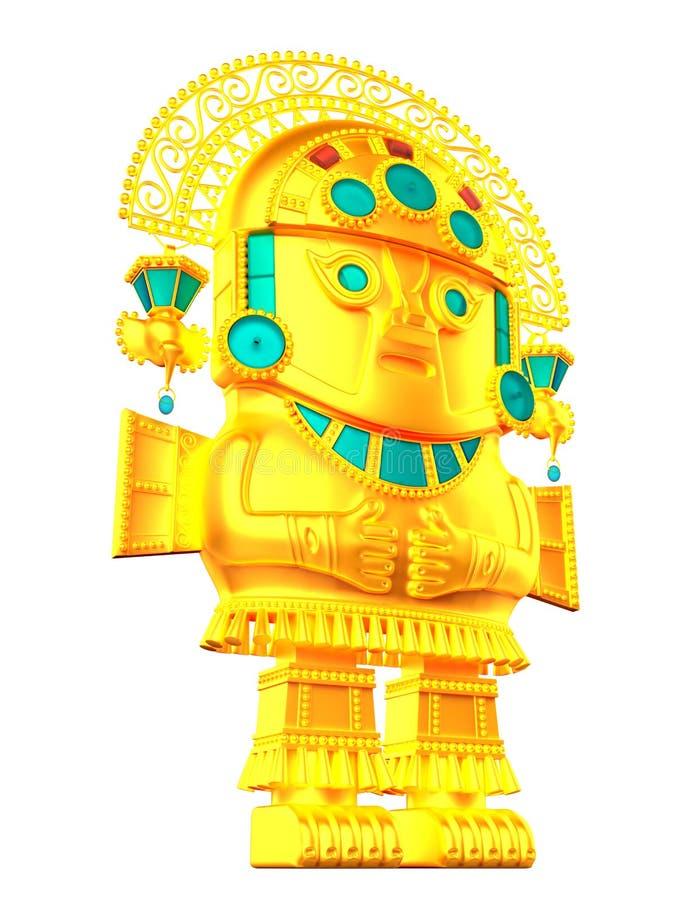 Statuette πολιτισμού Inca απεικόνιση αποθεμάτων