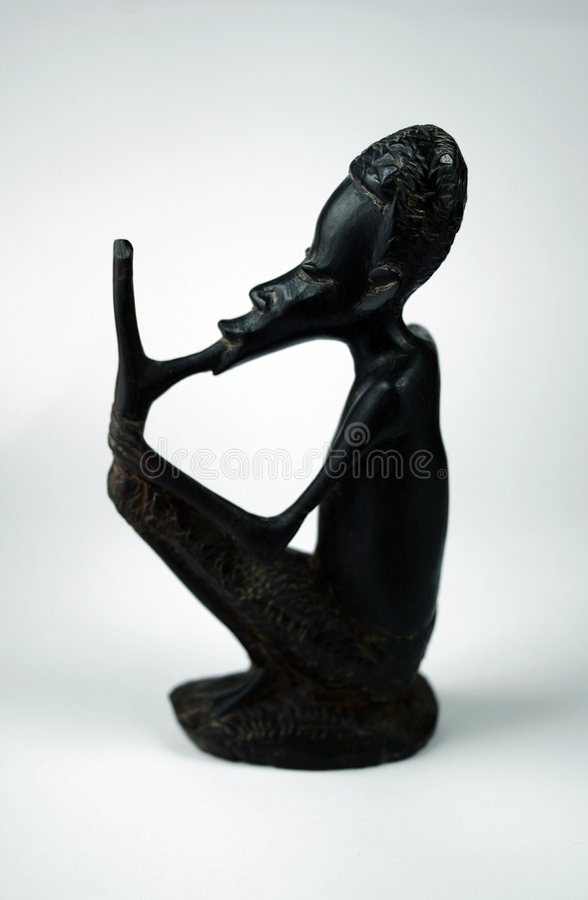 Statuette africano imagens de stock royalty free