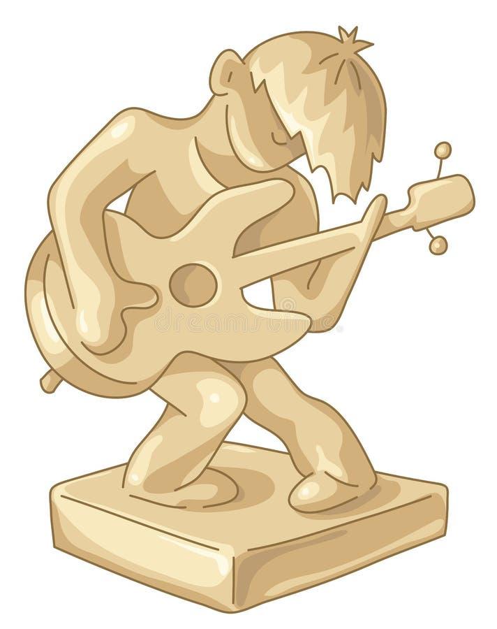 Statuette d'or du joueur de guitare illustration de vecteur