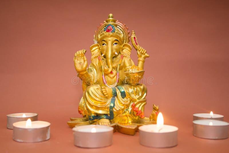Statuette des Gottes Ganesh stockbild