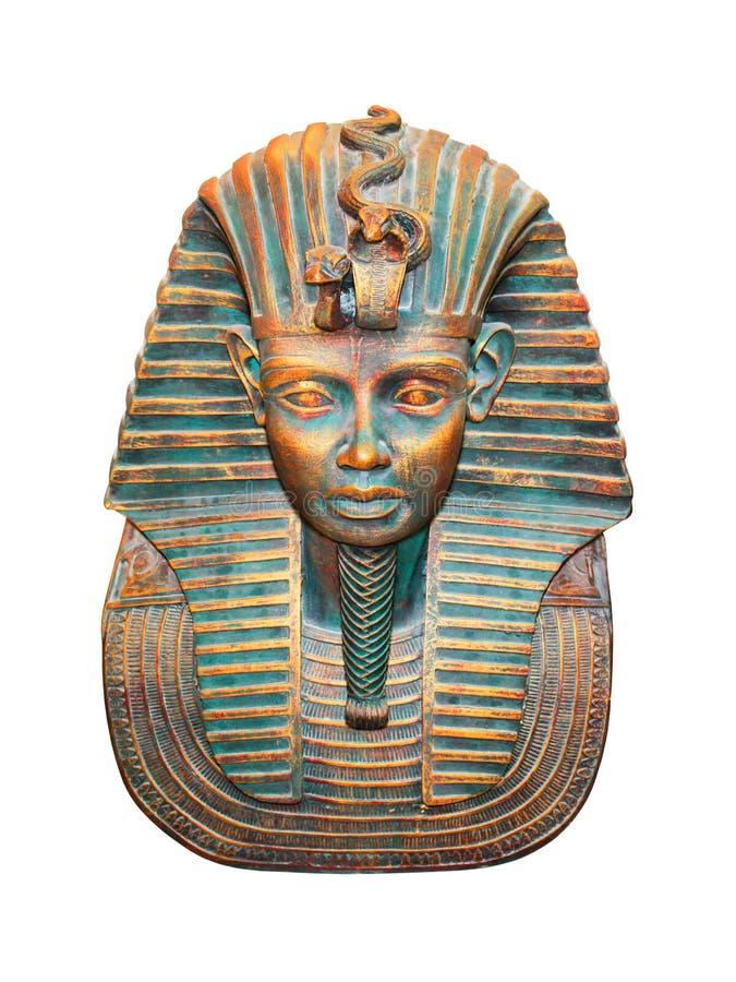 Statuette egípcio do pharaoh isolado no branco fotos de stock royalty free