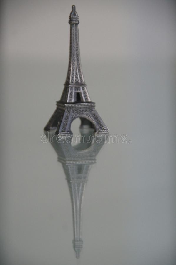 A statuette of the Eiffil Tower. stock image