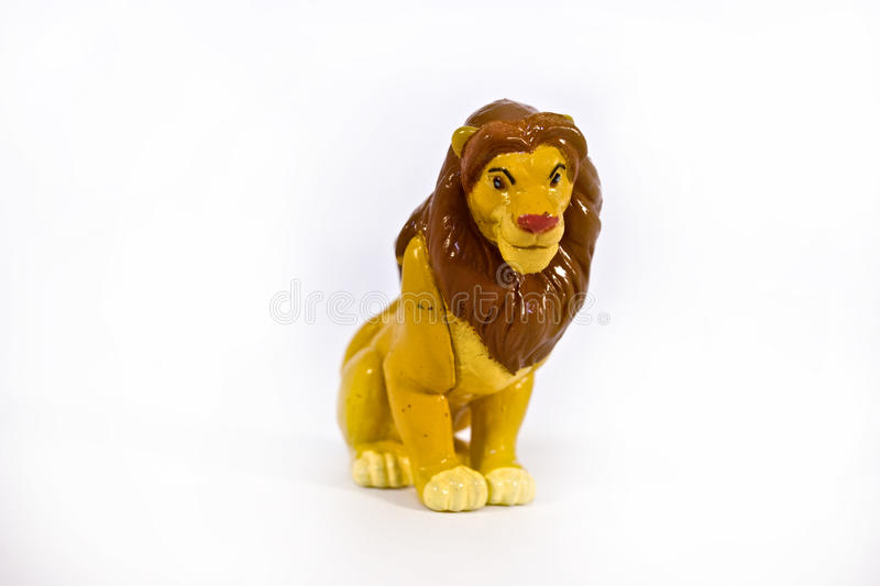 Download Statuette of a lion stock photo. Image of figure, predator - 12577124