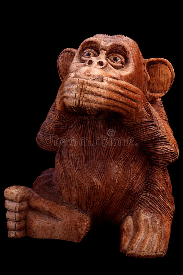 Statuette of a monkey stock image