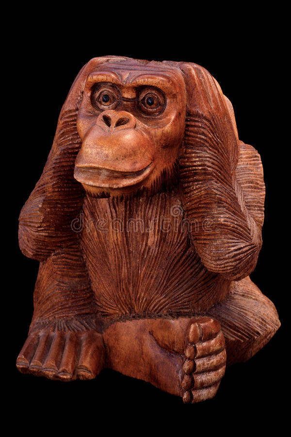 Statuette of a monkey royalty free stock photos