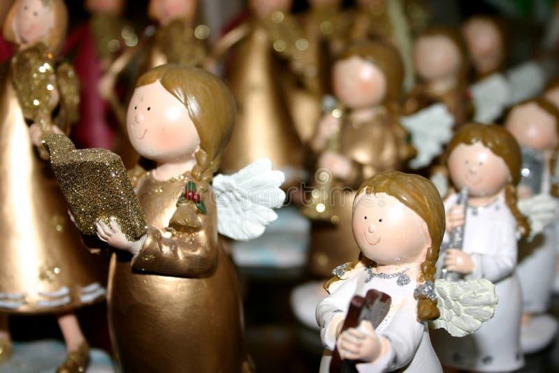Statuettes do anjo fotografia de stock