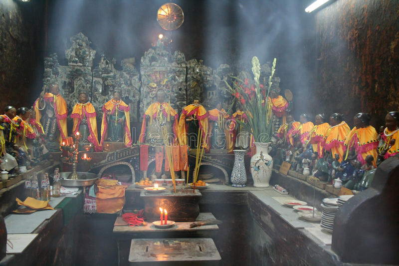 Statuettes of Taoist divinities - Jade Emperor Pagoda - Ho Chi Minh City - Vietnam. Statuettes of Taoist divinities in the Jade Emperor Pagoda in Ho Chi Minh stock photography