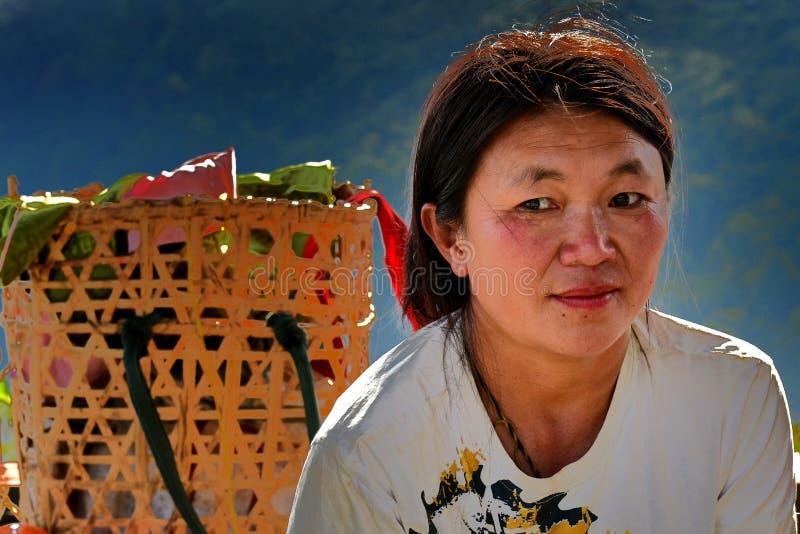 Status av kvinnor i Bhutan arkivbild